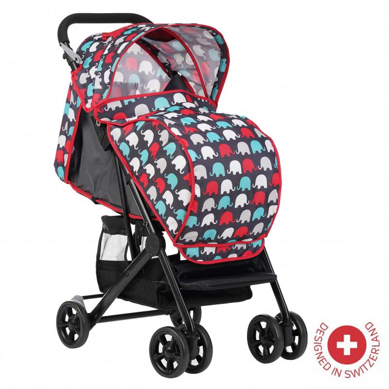 Zizito Baby Stroller - Συμπαγές, εύκολο να διπλωθεί με κάλυμμα ποδιών, κόκκινο  113569