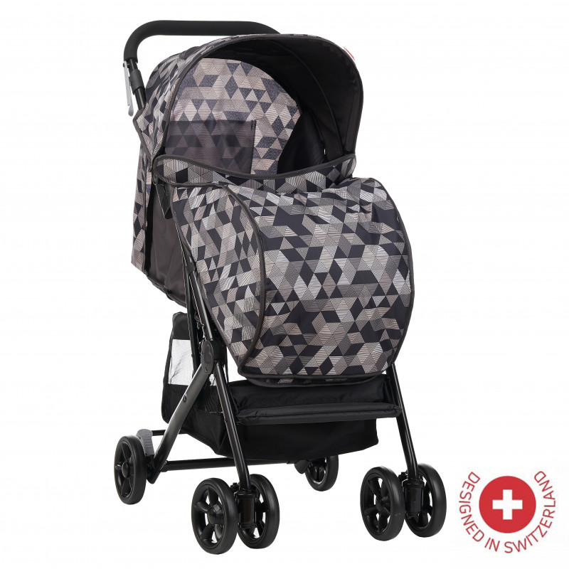 Zizito Baby Stroller - Συμπαγές, εύκολο να διπλωθεί με κάλυμμα ποδιών, γκρι  113570