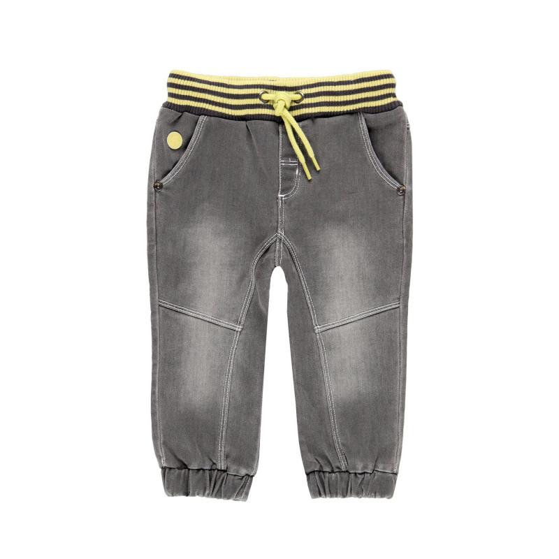 Τζιν παντελόνι για αγόρια με ελαστική ζώνη που κάνει αντίθεση  113782