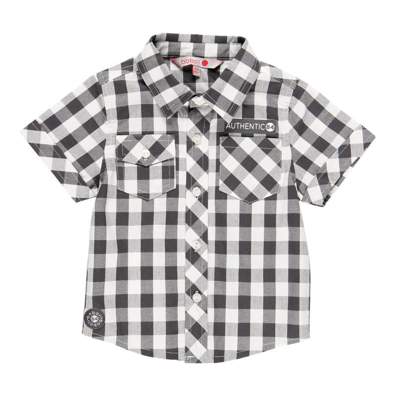 Καρό πουκάμισο με κοντό μανίκι για αγόρια  113828