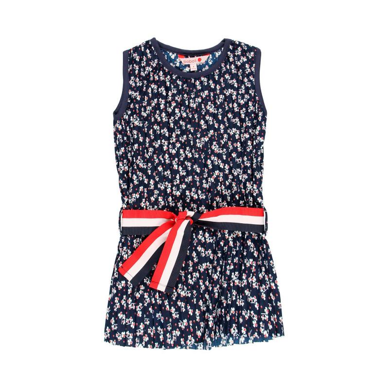 Φόρεμα για κορίτσια, σκούρο μπλε με λουλουδάτη στάμπα  113919