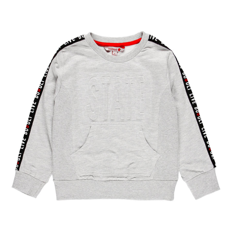 Βαμβακερή μπλούζα για αγόρι με τσέπη καγκουρό  113950
