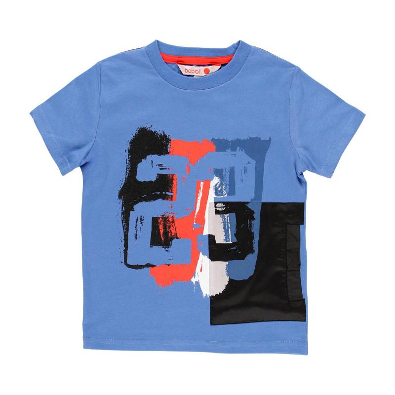 """Βαμβακερό μπλουζάκι Boboli για αγόρι με στάμπα """"23"""", μπλε  113964"""