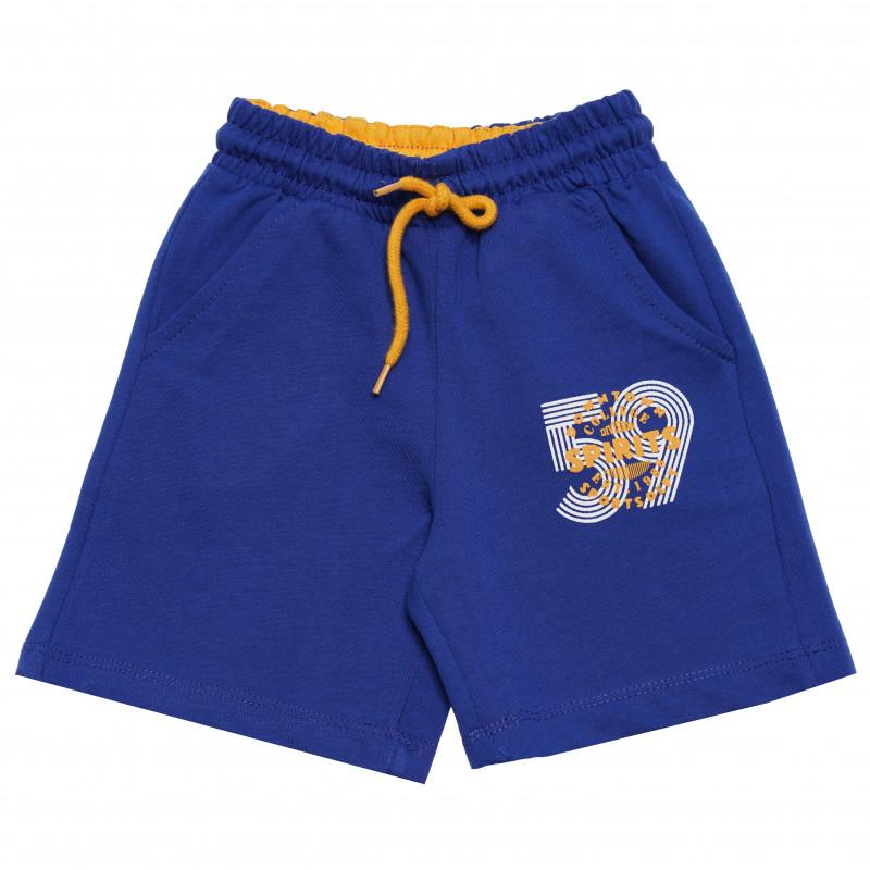 """Σορτς για αγόρια με στάμπα """"59"""", μπλε  114539"""