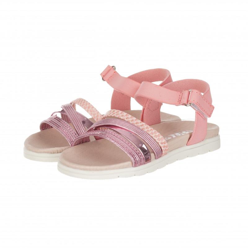 Σανδάλια με κλείσιμο velcro για κορίτσια, ροζ  114632