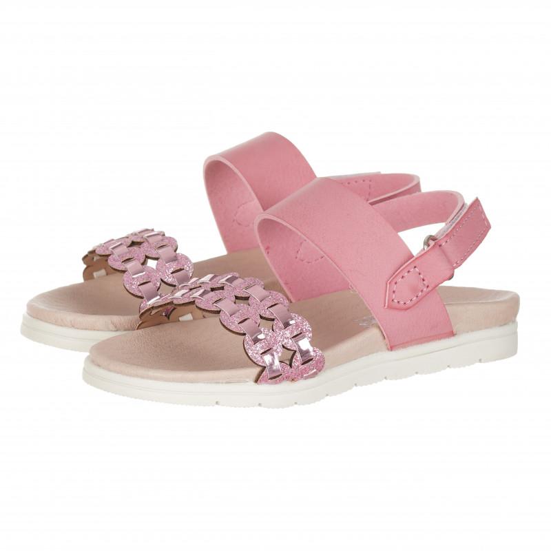Σανδάλια για κορίτσια με πλεκτό λουράκι, ροζ  114638