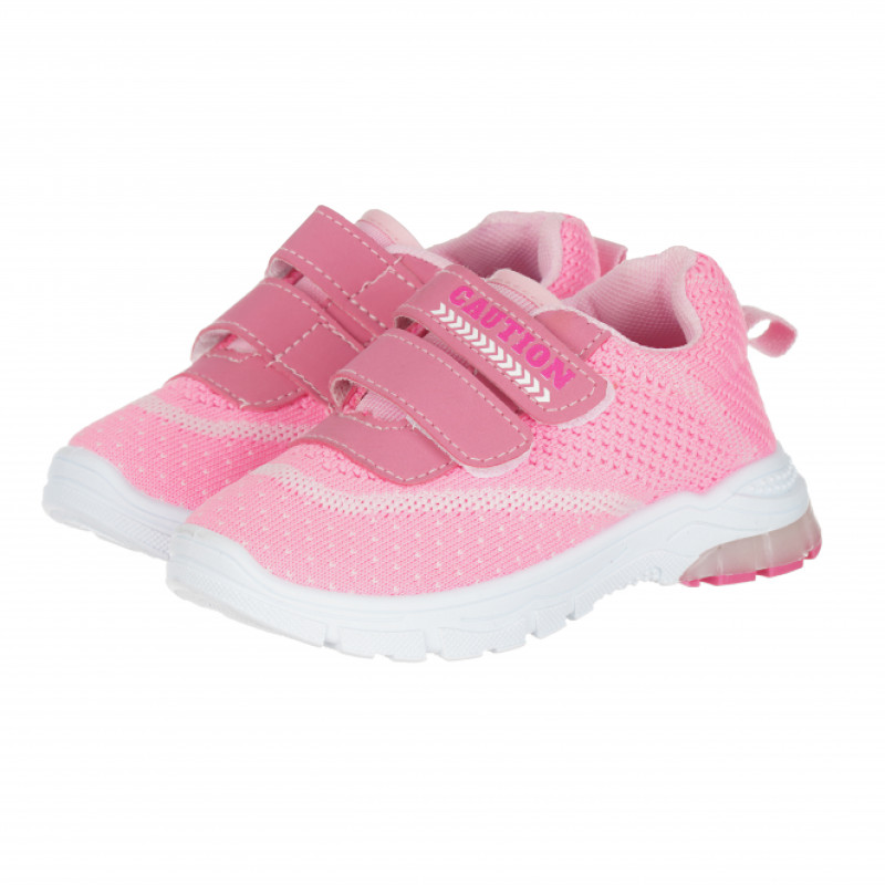 Πάνινα παπούτσια με velcro για κορίτσια, σκούρο ροζ  114653