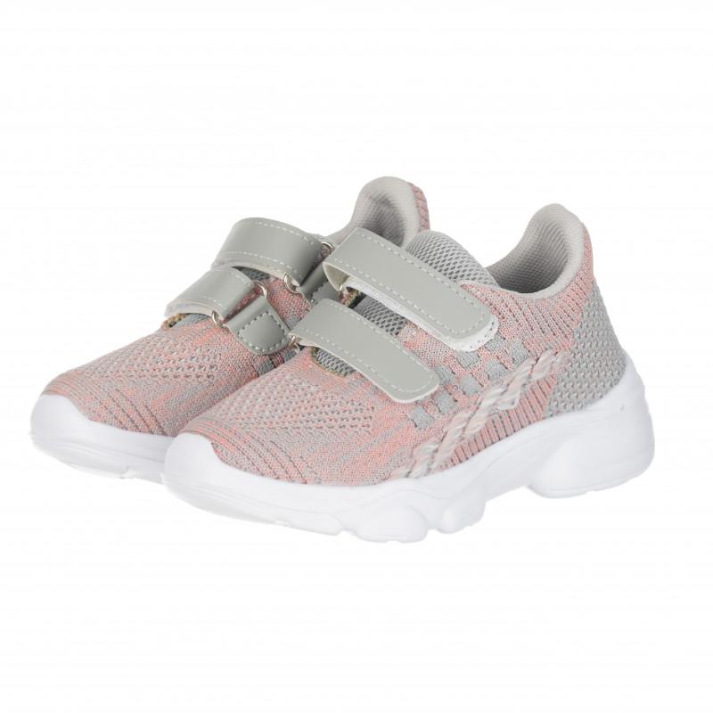 Αθλητικά παπούτσια με velcro για κορίτσια, ροζ  114656