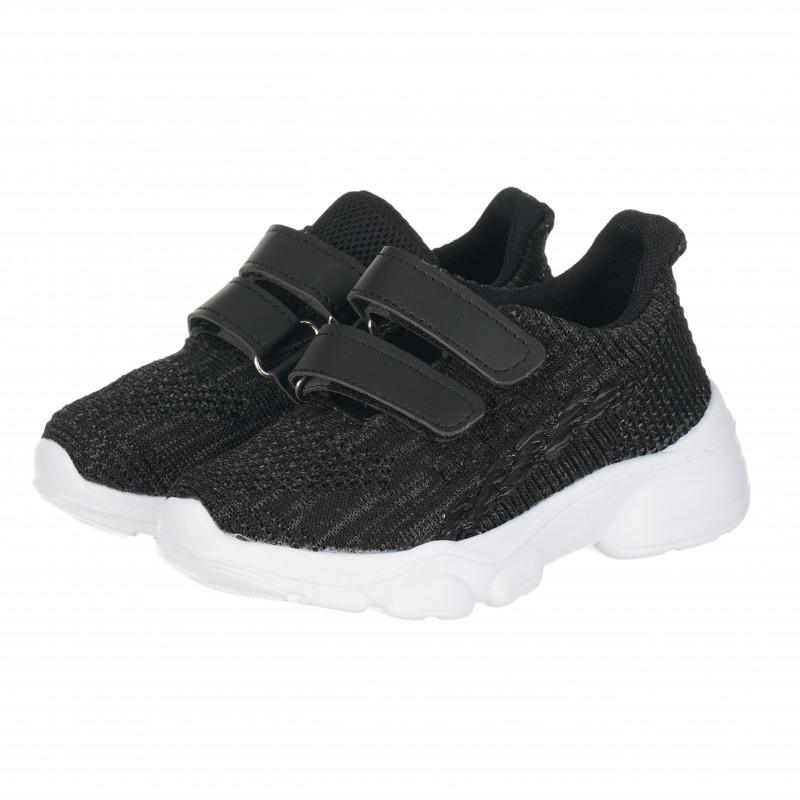 Αθλητικά παπούτσια με σόλα και velcro για αγόρια, σκούρο γκρι  114662