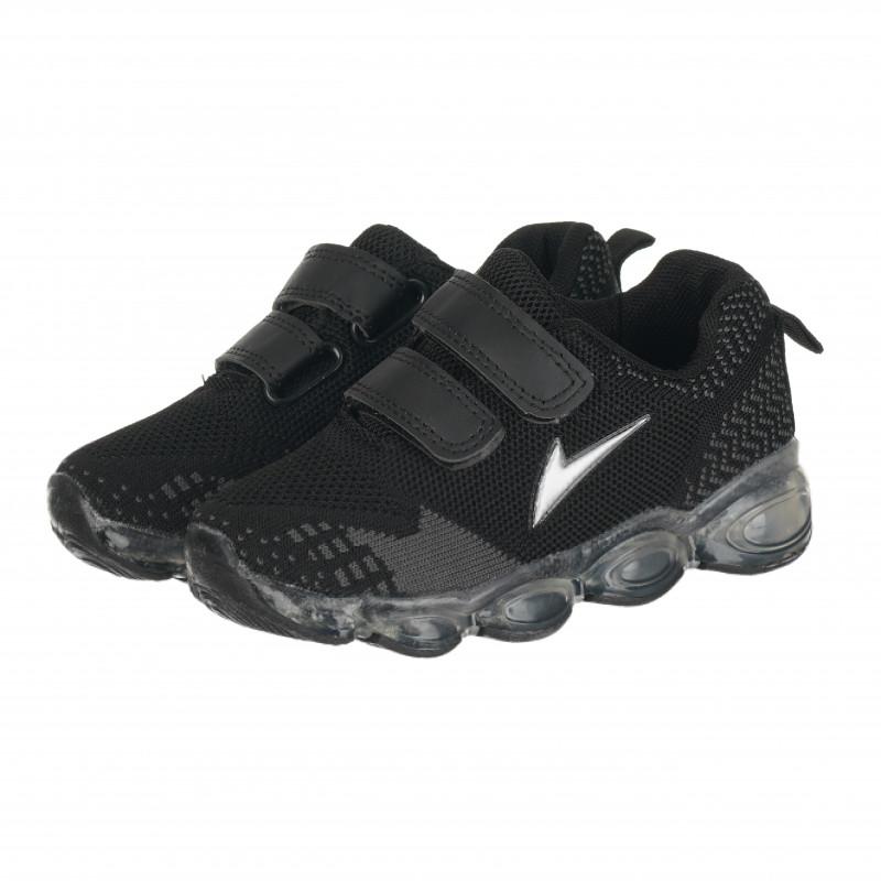 Αθλητικά παπούτσια με Velcro για αγόρια, μαύρο  114665