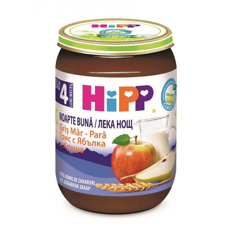 """Βιολογικός χυλός γάλακτος """"καληνύχτα"""" σιμιγδάλι, μήλο, αχλάδια, βάζο 190 γρ.  114934"""