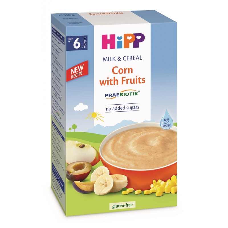 Prebiotic Instant Porridge Corn Fruit Box 250γρ  114937