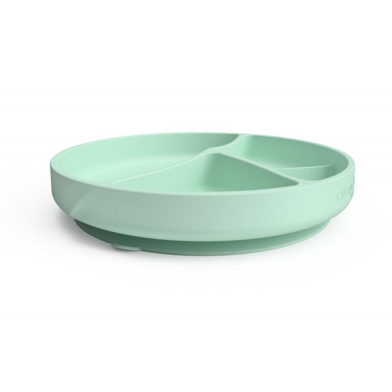 Κολλητικό πιάτο σιλικόνης σε πράσινο χρώμα  114977