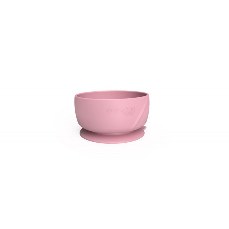 Κολλητικό μπολ σιλικόνης σε ροζ χρώμα  114983