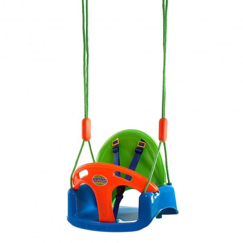 Κούνια μωρού με σανίδα ασφαλείας και ζώνες  115148