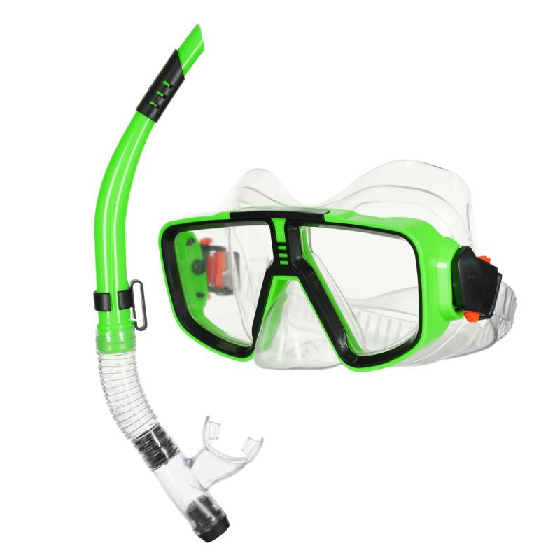 Σετ μάσκας και αναπνευστήρα, πράσινο  116109