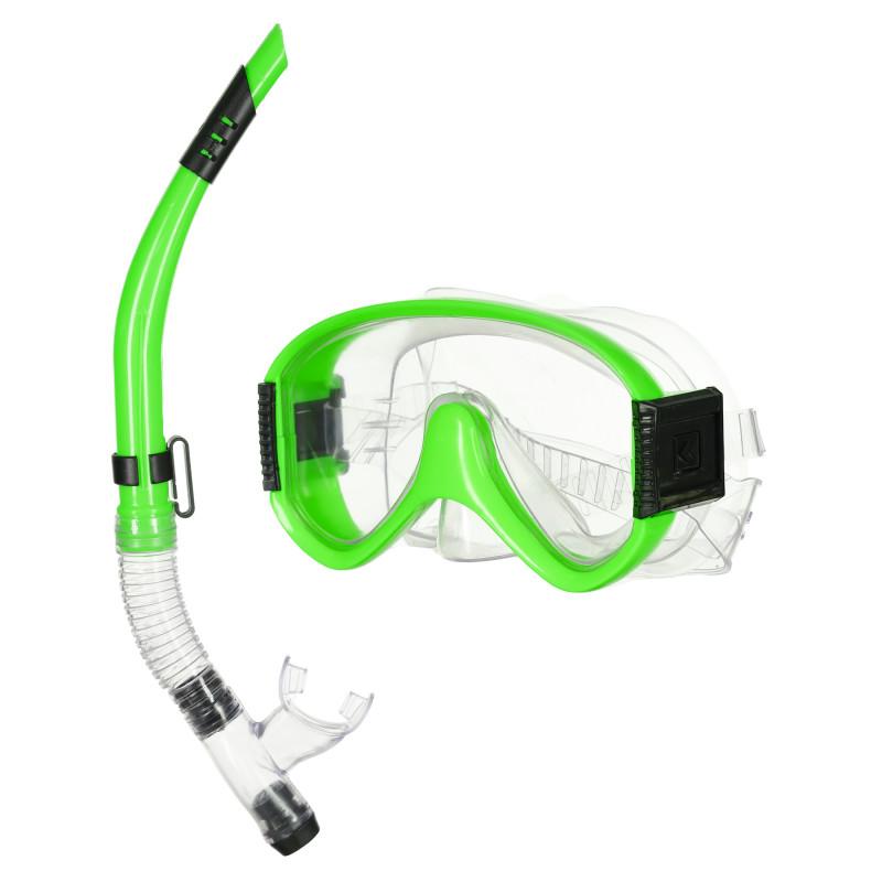Σετ μάσκας κατάδυσης με αναπνευστήρα, πράσινο  116120