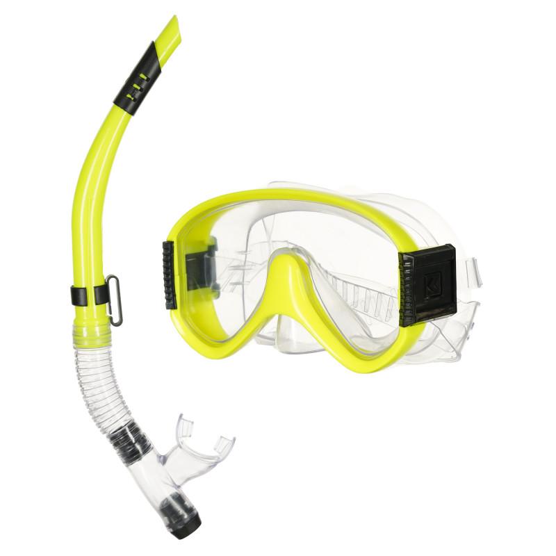Σετ μάσκας κατάδυσης με αναπνευστήρα, κίτρινο  116124