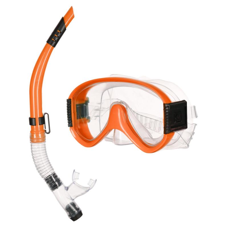 Σετ μάσκας κατάδυσης με αναπνευστήρα, πορτοκαλί  116128