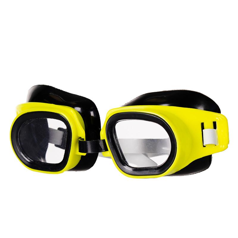 Ρυθμιζόμενα γυαλιά κολύμβησης, κίτρινα  116157