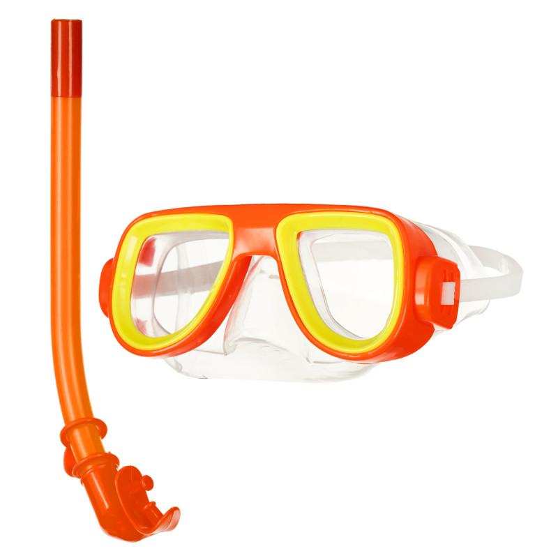 Σετ κολύμβησης - μάσκα αναπνευστήρα, πορτοκαλί  116177