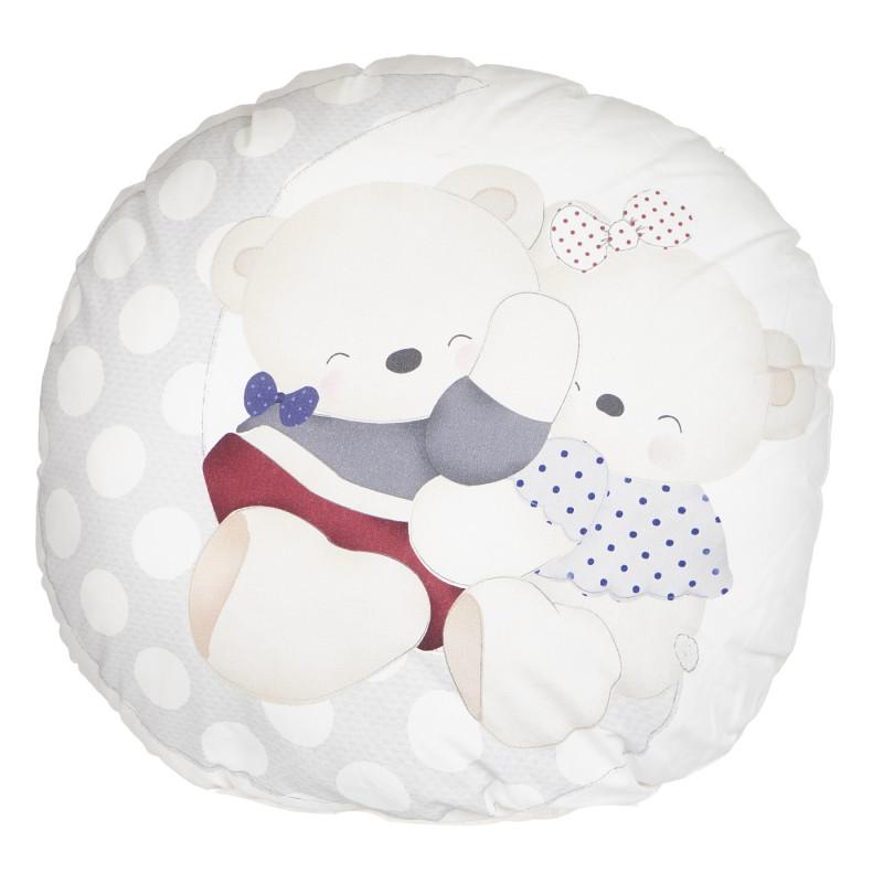 Διακοσμητικό μαξιλάρι Unisex με κεντημένο αρκουδάκι  117462