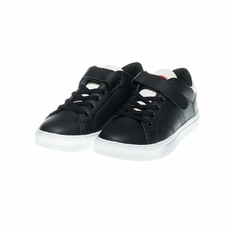 Χαμηλά αθλητικά παπούτσια για αγόρια σε μαύρο  12373