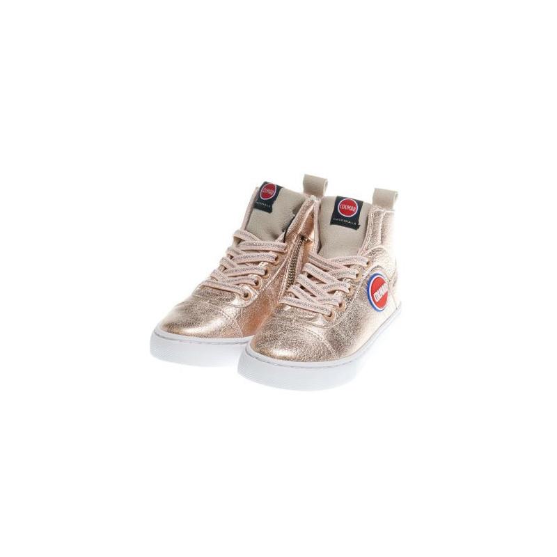 Αθλητικά παπούτσια για κορίτσια σε ροζ χρώμα με φερμουάρ και κορδόνια  12385