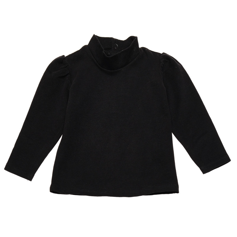 Βαμβάκι μισό-Polo για κορίτσι, μαύρο  123872