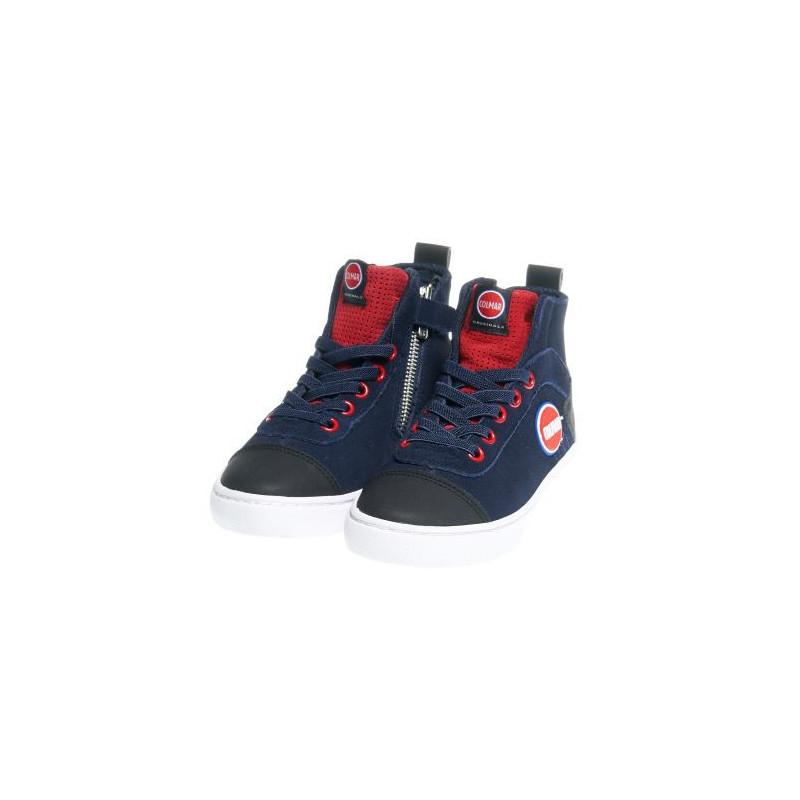 Υψηλά αθλητικά παπούτσια για αγόρια με φερμουάρ, μπλε  12399