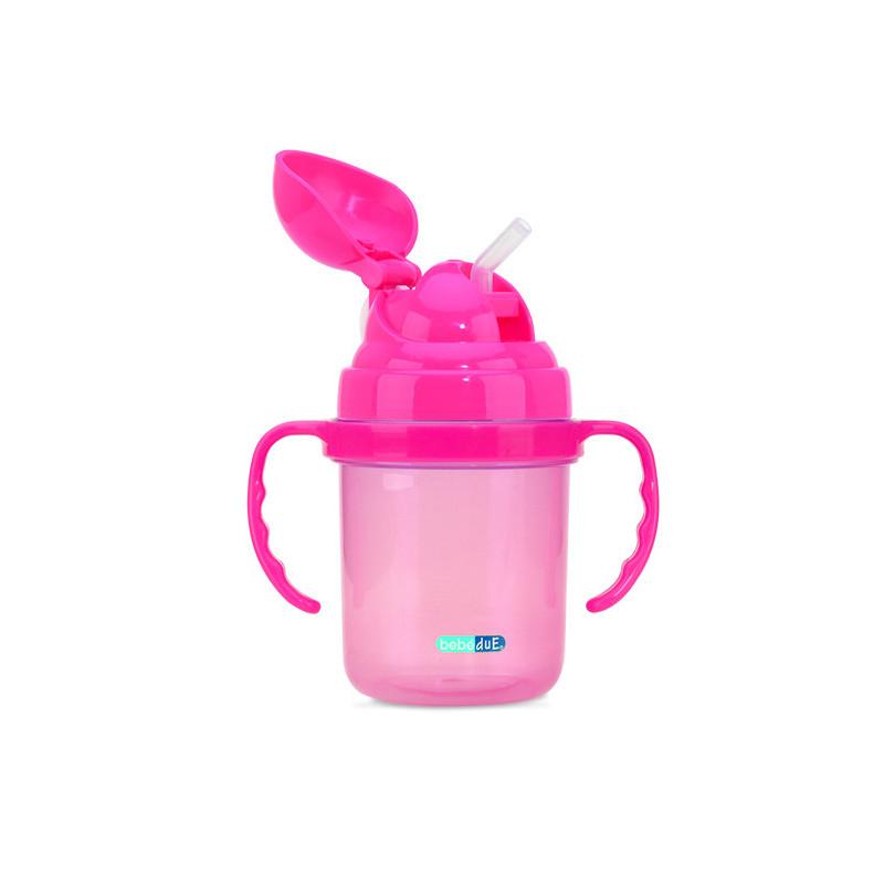 Ροζ κούπα με σε πλαστικό των 190 ml  1259