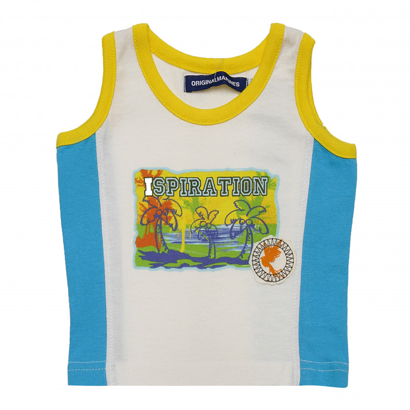 Βαμβακερό μπλουζάκι μωρού, πολύχρωμο  126510