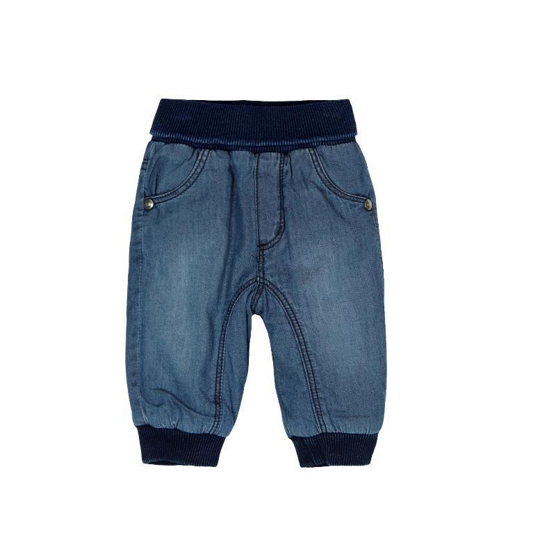 Τζιν παντελόνι με σκούρο μπλε ελαστικό για ένα αγοράκι  130