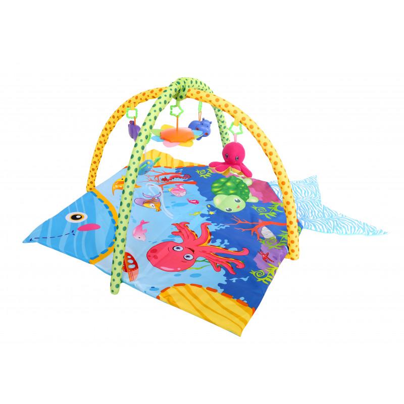 Γυμναστήριο- χαλάκι δραστηριοτήτων παιχνίδι στον ωκεανό, χρώμα: μπλε  1436
