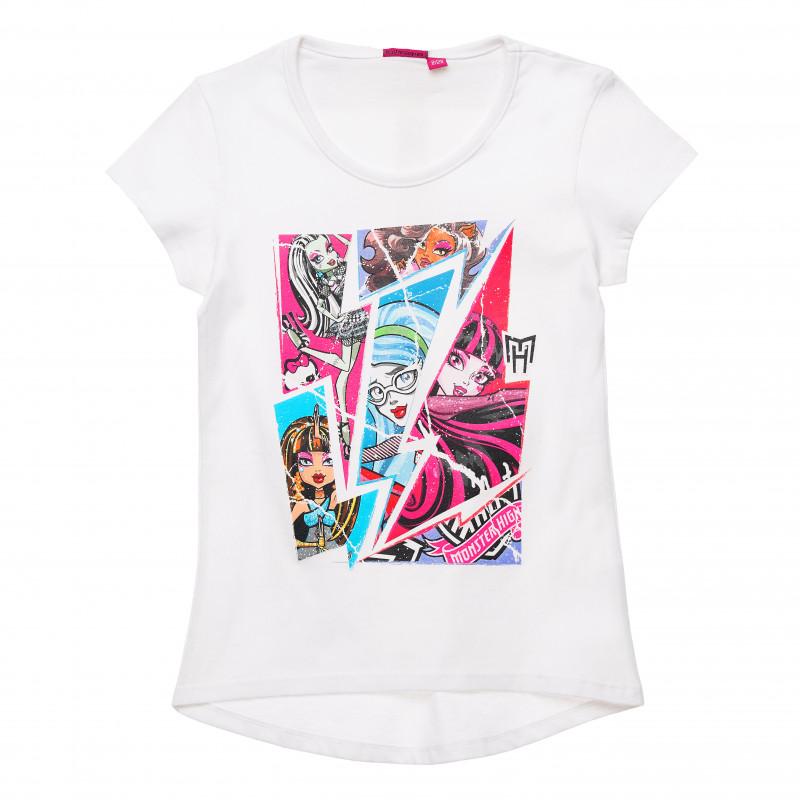 Σετ 2 μέρη Monster High print Βαμβακερά μπλουζάκια  143756
