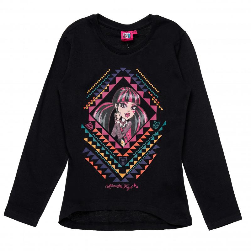 Μπλούζα για κορίτσια Monster High Μαύρο βαμβάκι  143837
