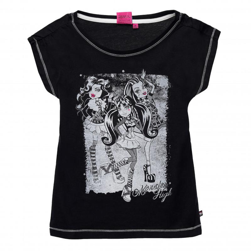 Μπλουζάκι για κορίτσια Monster High Μαύρο  143852