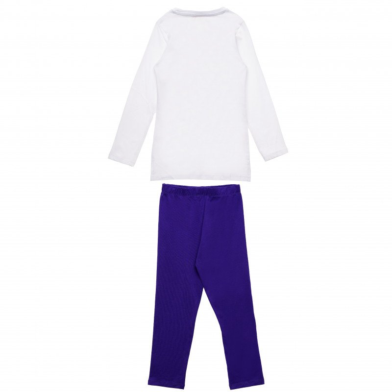 Σετ από βαμβάκι δύο τεμαχίων: μπλούζα και παντελόνι για ένα κορίτσι  143912