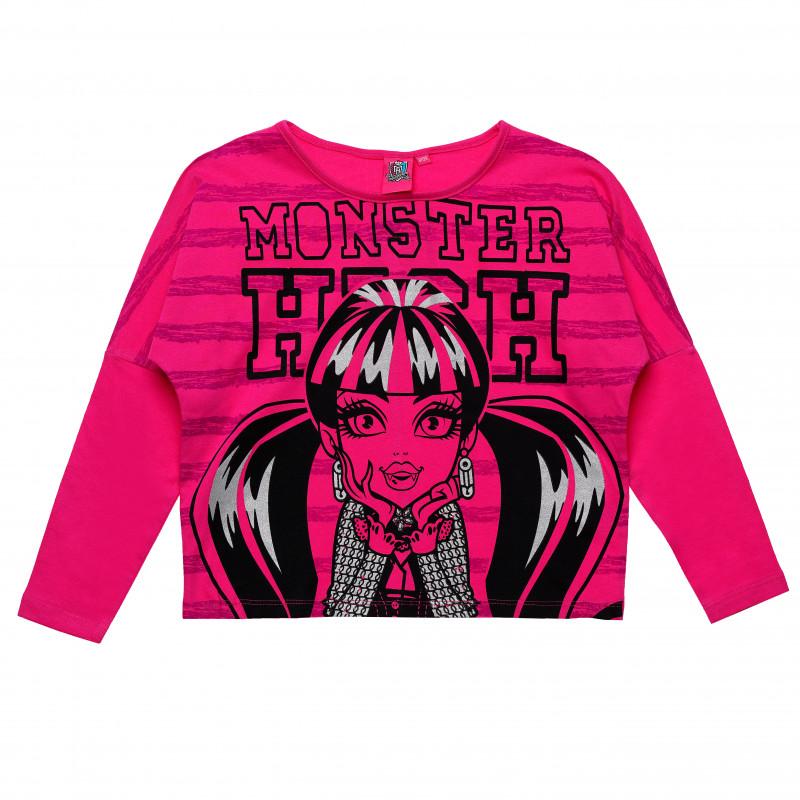 Γυναικεία μπλούζα Monster High βαμβάκι, ροζ  143959