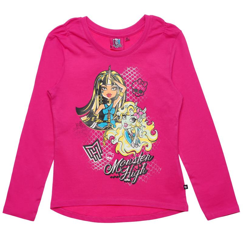 Γυναικεία μπλούζα Monster High Pink Cotton μακρυμάνικη  143988