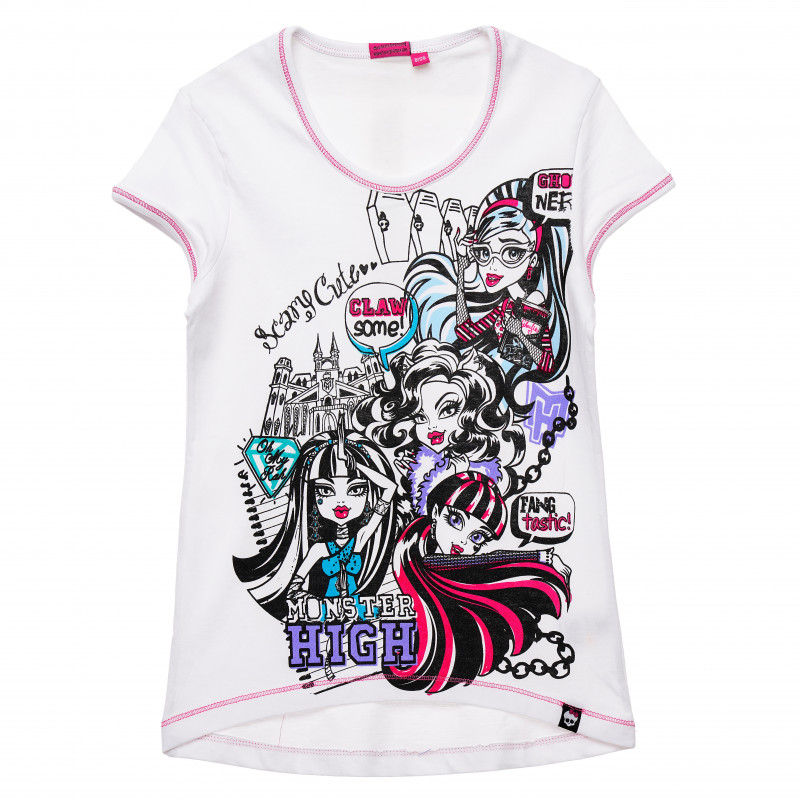 Γυναικείο βαμβακερό μπλουζάκι, λευκό  144178