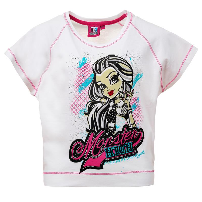 Κορίτσια Λευκό βαμβακερό μπλουζάκι  144189