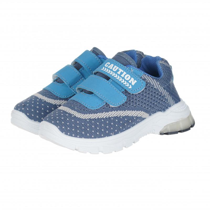 Μπλε αθλητικά παπούτσια για αγόρια Velcro  148336