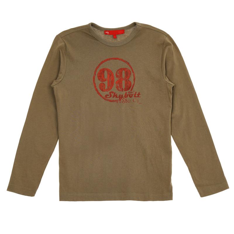 Βαμβακερή μπλούζα για κορίτσια  152444