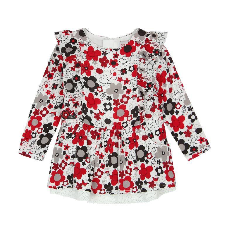 Φόρεμα με μακριά μανίκια και λουλούδια  161