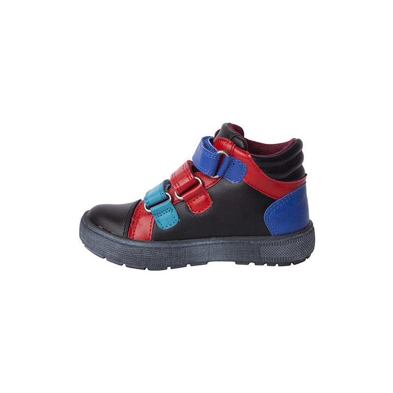 Ψηλά παπούτσια για αγόρια με κόκκινο και μπλε τόνους  1703