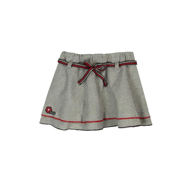 Κοντή φούστα με κόκκινη λεπτομέρεια  176