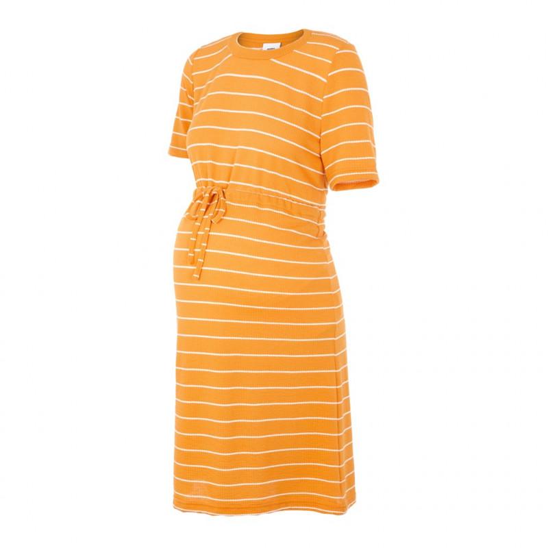 Ριγέ κοντομάνικο φόρεμα μητρότητας  178497