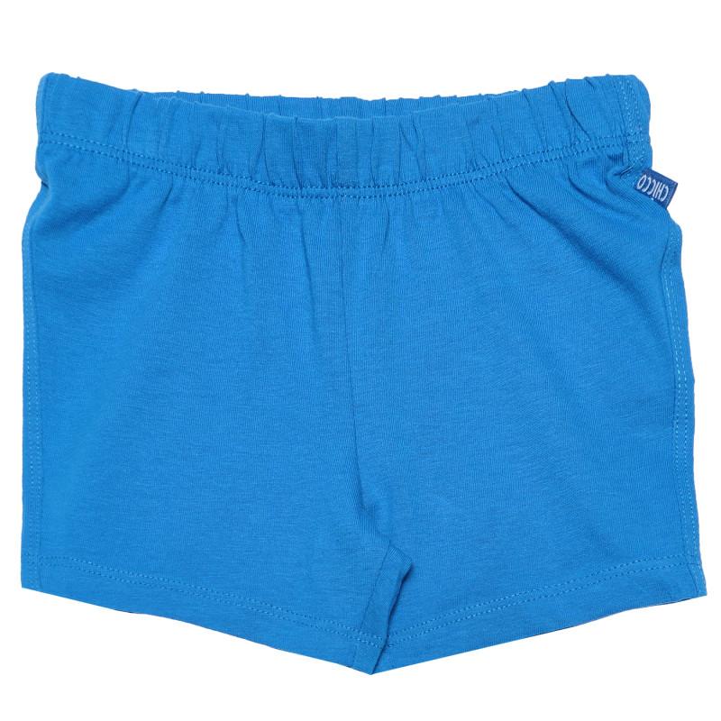 Βαμβακερό παντελόνι σε μπλε χρώμα, για αγοράκια  181044