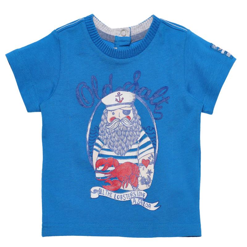 Βαμβακερή μπλούζα σε μπλε, για μωρά  181211